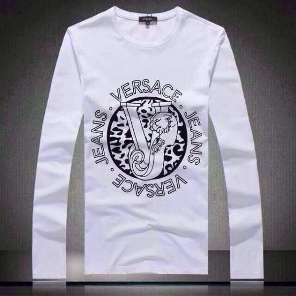 1a698413 Mens Versace Luxury brands long sleeve T shirt 2 colors 812/P105 M-XXXL  Images