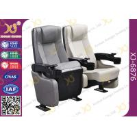 Plastic Shell Leather Cinema Theater Chairs With Tip-up Seat / Lecture Hall Seating