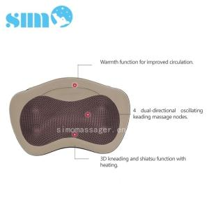 China Warming Electric Massage Pillow Home Neck And Shoulder Massage Pillow supplier