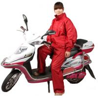 2013 high quality PU coating red raincoat for motorcycle