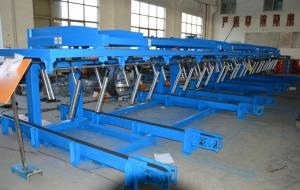 China 12 Meters  Auto Stacker For Roll Forming Equipment Conveyer Belt Speed 36m / min on sale