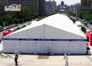 China White Aluminum Temporary Storage Structures Industrial Canopy Tent Wind Resistant on sale