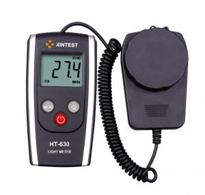 China Industrial Portable Black Digital Light Meter With Auto Revise Parameters on sale