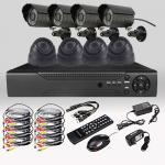 CCTV Security DIY 8CH 720P 1.0MP Camera AHD DVR Day Night Home Surveillance System