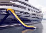 Jeux de flottement de l'eau gonflable, glissière gonflable pour des sports de yacht