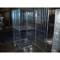 4 Sides Security Warehouse Rolling Storage Container / Cages For Retail Shop