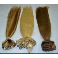 OEM Straight Human Real Hair Clip In Hair Extensions for Female 613 color in stock