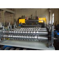 China Zinc Colored Steel Floor Deck Roll Forming Machine / Floor Tiles Making Machine Easy Operate on sale