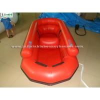 Custom Made Lake Inflatable Rubber Boat / Certified Lead Free Material Inflatable Speed Boat