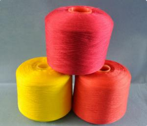 China Strong Super Bright Fiber Dope Dyed Yarn , 100% Ring Spun Polyester Yarn on sale
