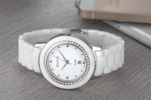 China Factory wholesale high grade scratchproof sapphire glass ceramic lady watch on sale
