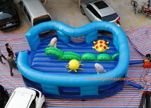 China Kids Cartoon Ocean World Inflatable Air Bouncer For Amusement Park on sale