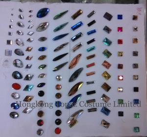 China Big rhinestone Hot fix DMC shaped stone in various shapes/colors on sale