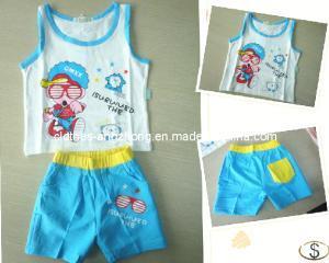 China Baby Boy Clothes Set Blue Glasses Boy Shirt+Stripe Pant, Children Summer cLoth sets on sale