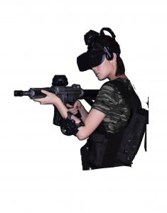 China Black Virtual Reality Kit / Interactive Vr Gaming System Ultra Realistic Feeling on sale