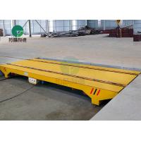 China Towed Cable Powered Factory Material Handling Hydraulic Rail Transport Cart For Steel Structure on sale