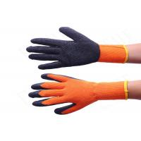 10 Gauge Warm Winter Work Gloves Orange Color Brushed Terry Loops Acrylic Lined
