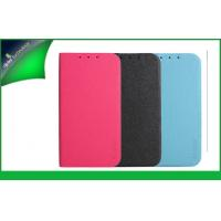 Pink ZTE Mobile Phone Protective Cases / Covers With Card Slot / Embossed Logo