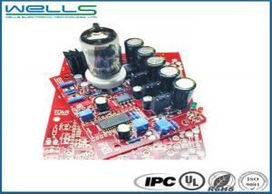 China Red 1.0mm Custom Printed Circuit Board Fabrication , Custom Made Pcb Assembly on sale