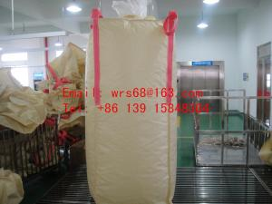 China PVC resin Beige 2 Ton bulk bags with top and bottom spout PVC resin on sale