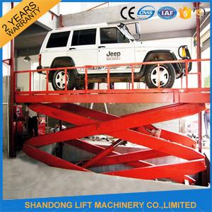 China 220V Electric Portable Hydraulic Scissor Car Lift for Outdoor / Home Garage CE on sale