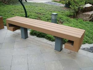 China Outdoor Furniture Park Recyclable Wood Plastic Composite Bench on sale