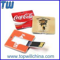 Plastic Square Card Usb Flash Drives with Both Side High Quality Digital Printing