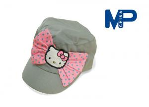 China 100% Cotton Cute Children's Personalized Baseball caps with Hello Kitty Bowknot on sale