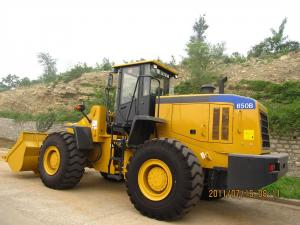 China SEM 650B 5 ton wheel loader with cummins engine 5000 kg Rated Load Capacity on sale