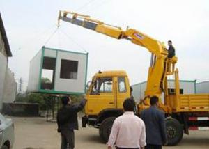 China Small Truck Mounted Crane Max Working Height 6.55 Meter , Construction Lifting Machinery on sale