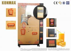 China 4G Internet Route Fresh Orange Juice Vending Machine With Auto Change System on sale