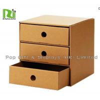 Foldable Cardboard Bedside Tables Corrugated Cardboard Furniture With Drawers