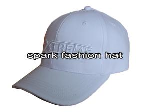 Quality High quality elastic cotton white 3D embroidery advertising flex fitted baseball cap for sale