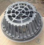 QSF21500 Series 15 1/4 Diameter Large Sump Cast Iron Roof Drain with 6 No Hub Outlet