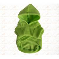 XXX Small Breed Dog Clothes Green color Sports garment for pet warmly and safety