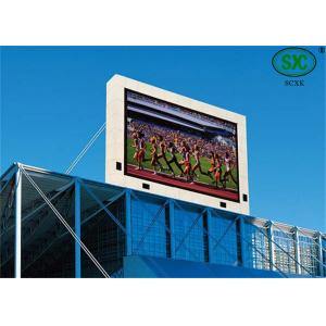 China Large Outdoor Stadium LED Display , Commercial Center PH10mm Video LED sign on sale
