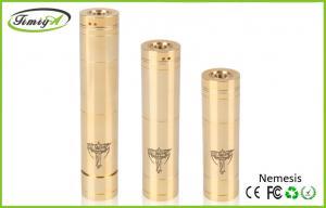 China Gold Mechanical Mod ECig / Copper Nemesis Clone CE ROHS Electronic Cigarette on sale