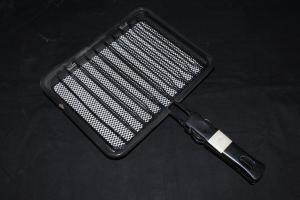 China Ivory White Porcelain Enameled Folding / Trolley Ceramic Barbecue Charcoal Grill Grids on sale
