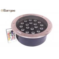 Garden Round Led Underground Light Single Color Rgb For Outdoor Decoration