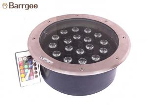 China Garden Round Led Underground Light Single Color Rgb For Outdoor Decoration on sale