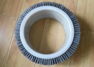 China Abrasive Nylon Cylinder Brushes Fit Rolling Mills And Coils Treatment on sale