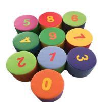 Kids Indoor Soft Play Toys / Foam Figure Numbering Block  Environmental Protection
