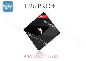 China Android 7.1 4K TV Box H96 Pro Plus Amlogic S912 Octa Core 64Bit 2.4G/5G Wifi Bluetooth 4.1 HD Media Player Set Top Box on sale