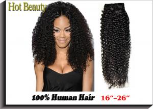 China Kinky Style Curly Weave Natural Black Virgin Human Hair Extensions Can Be Dyed Ombre Color on sale