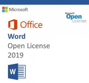 China Mac Standard Microsoft Office 2019 Product Key Word MA-O-W-OL-2019 on sale