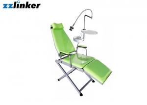 China Colorful Dental Chair Unit Portable Patient Chair with Spittoon Lamp and Tray on sale