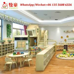 China Guangzhou COWBOY  wooden material kids basic education childcare center furniture equipment for sale on sale