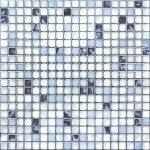 Kitchen Crystal Glass Mosaic Tiles 30 X 30 cm Metal Glazed / Interior Wall Tiles