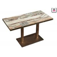 China Casting Iron Base Commercial Restaurant Tables For Fast Food / Hot Pot on sale