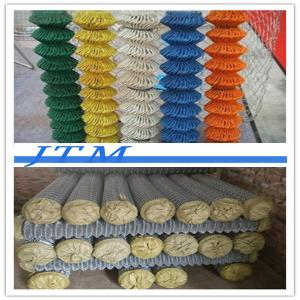 China [China factory]galvanized chain link fence( diamond wire mesh), PVC Coated Chain Link Fence on sale